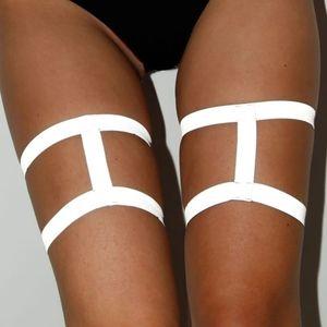 🌺Reflective strappy harness leg garters